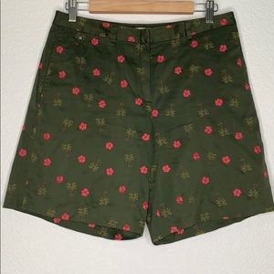 Tommy Bahama palm tree & hibiscus embroidered
